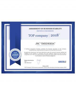 Top company 2018 IMEDEKSA